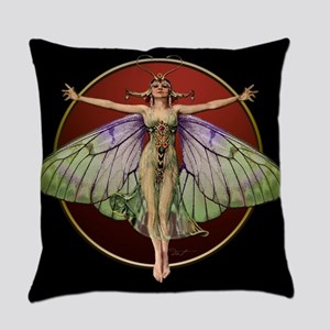 Flapper Fairy Everyday Pillow Blkred